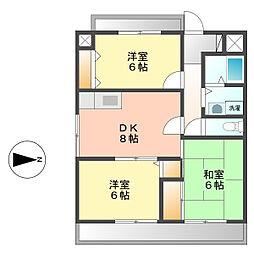 愛知県名古屋市西区比良4丁目の賃貸マンションの間取り