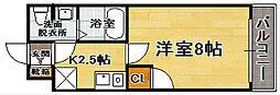 アクアシティ博多[8階]の間取り