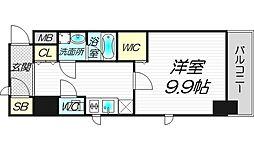 プレサンスNEO淀屋橋[6階]の間取り