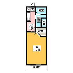 エスポワール・ウエダ[1階]の間取り