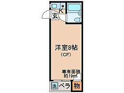 京都府京都市伏見区淀新町の賃貸アパートの間取り