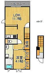 メゾン・ドゥ・ジェルメA棟B棟[2階]の間取り