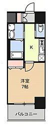 Huttenwerke Osaka Namba 2階1Kの間取り