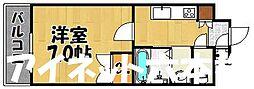 福岡市地下鉄七隈線 渡辺通駅 徒歩3分の賃貸マンション 6階1Kの間取り