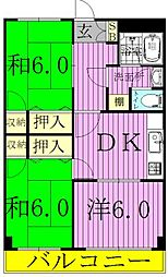 加藤第2ビル[202号室]の間取り