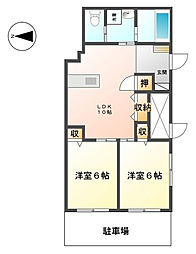 毛呂山貸店舗アパート[1号室]の間取り