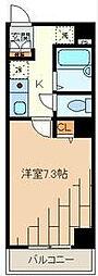 ドミサイルチヨダ[6階]の間取り