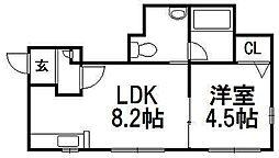 J・s court 東札幌[115号室]の間取り