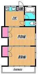 東京都府中市栄町1丁目の賃貸アパートの間取り