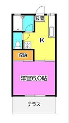 ヒダノコーポ[1階]の間取り
