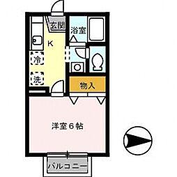 ディアコート野田[103号室号室]の間取り