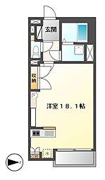 愛知県名古屋市港区宝神町の賃貸アパートの間取り