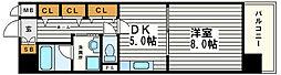 ベルビュー7番館[5階]の間取り