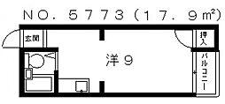 エム・ケイ2天王寺[4階]の間取り