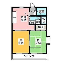 マンションアカツキ[2階]の間取り