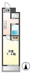 A−city港本宮[5階]の間取り