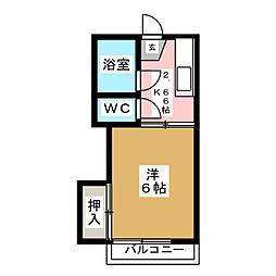 コーポ志田[2階]の間取り