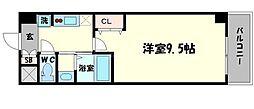 セブンレジデンスニッポンバシ 6階1Kの間取り