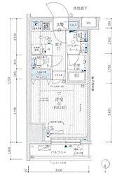 都営浅草線 蔵前駅 徒歩6分の賃貸マンション 8階1Kの間取り