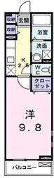 広島県福山市川口町4の賃貸アパートの間取り