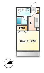 ルロワ津田沼[2階]の間取り