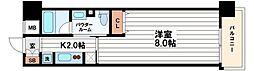 大阪府大阪市中央区石町1丁目の賃貸マンションの間取り