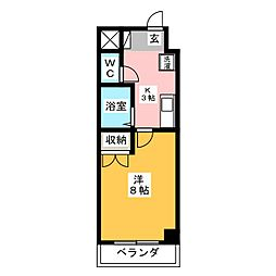 ACTRIUM・K[4階]の間取り