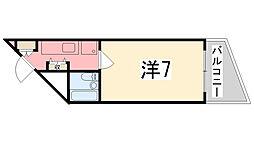 プレアール姫路山吹[206号室]の間取り