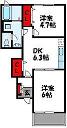 ミルデハイム C棟[1階]の間取り