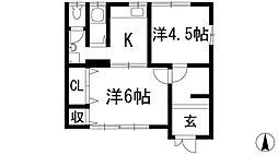 [テラスハウス] 兵庫県宝塚市旭町1丁目 の賃貸【/】の間取り