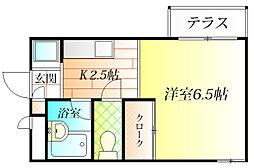 コンフォート軽里[1階]の間取り