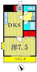 山喜タウン[2階]の間取り