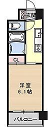 アクアプレイス京都東寺[108号室号室]の間取り