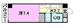 オクトワール松山土居田西館[505 号室号室]の間取り