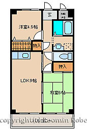 エトワール西神戸[306号室]の間取り