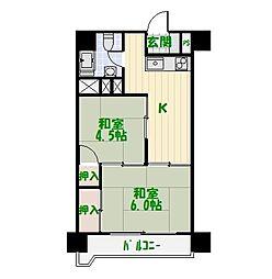 足立東和ダイヤモンドマンション[10階]の間取り