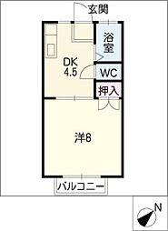 サンカレッジK[1階]の間取り