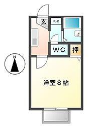 愛知県岩倉市大山寺本町の賃貸アパートの間取り
