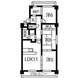 ファミール小幡[4階]の間取り