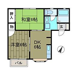 リッチハウスツインA[1階]の間取り