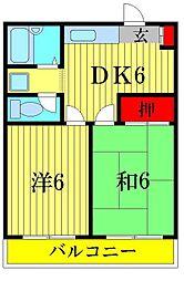 谷川第一マンション[3階]の間取り