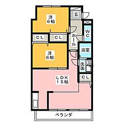 ウイングホース[1階]の間取り