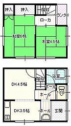 [テラスハウス] 愛媛県宇和島市宇和津町1丁目 の賃貸【/】の間取り