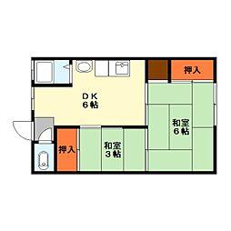 滋賀県栗東市岡の賃貸アパートの間取り