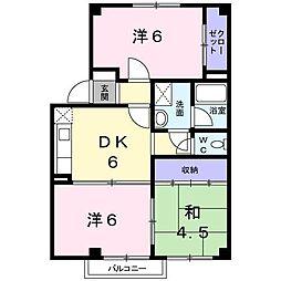 富山県富山市本郷新の賃貸アパートの間取り