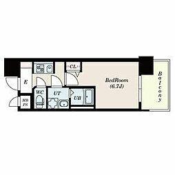 名古屋市営名城線 上前津駅 徒歩3分の賃貸マンション 2階1Kの間取り