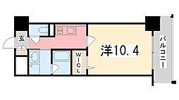 兵庫県姫路市豊沢町の賃貸マンションの間取り