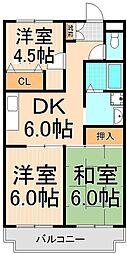 ラポールお花茶屋[3階]の間取り