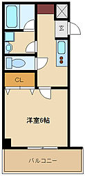 兵庫県尼崎市神田中通2丁目の賃貸マンションの間取り