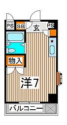 埼玉県さいたま市南区南本町2丁目の賃貸マンションの間取り